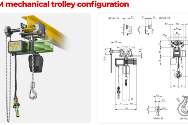W-CM mechanical trolley